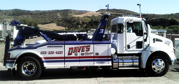one of Dave's Towing Service vehicles